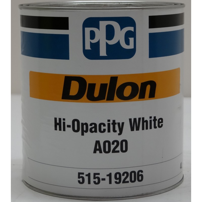 Ppg dulon a020 hi opacity white 4lt automotive paint for Automotive paint suppliers