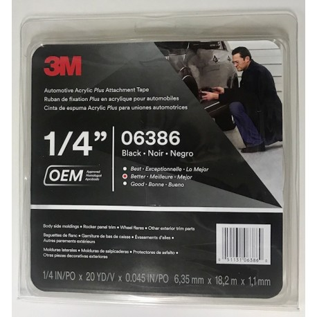 3M 6386 6mm 18.3mm Acrylic Foam Tape